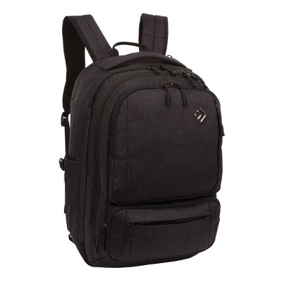 "Outdoor Products 17.9"" Work plus Play Convertible Backpack - Black"
