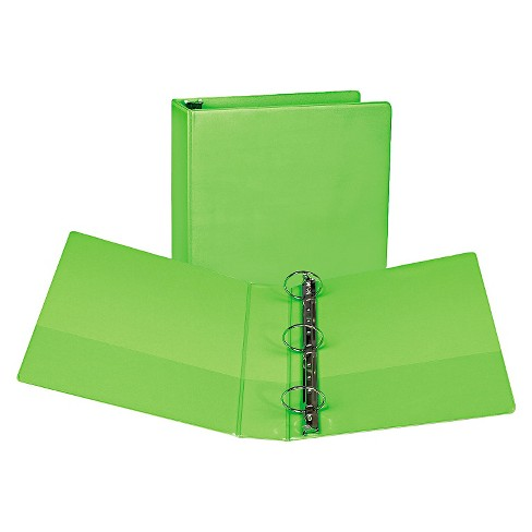 "Samsill® Fashion View Binder, Round Ring, 11 x 8-1/2, 2"" Capacity, Lime, 2/Pack - image 1 of 1"