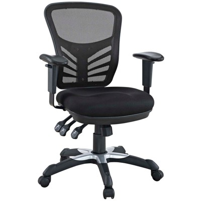 Office Chair Modway Midnight Black