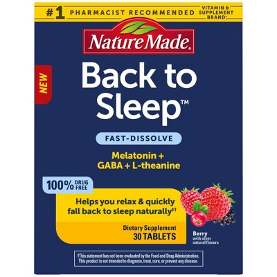 Nature Made Back To Sleep Tablets - 30ct
