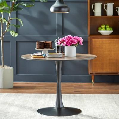 Kavitt Round Dining Table Walnut - angelo:HOME