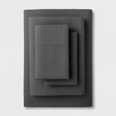 King Easy Care Solid Sheet Set Dark Gray - Made By Design™