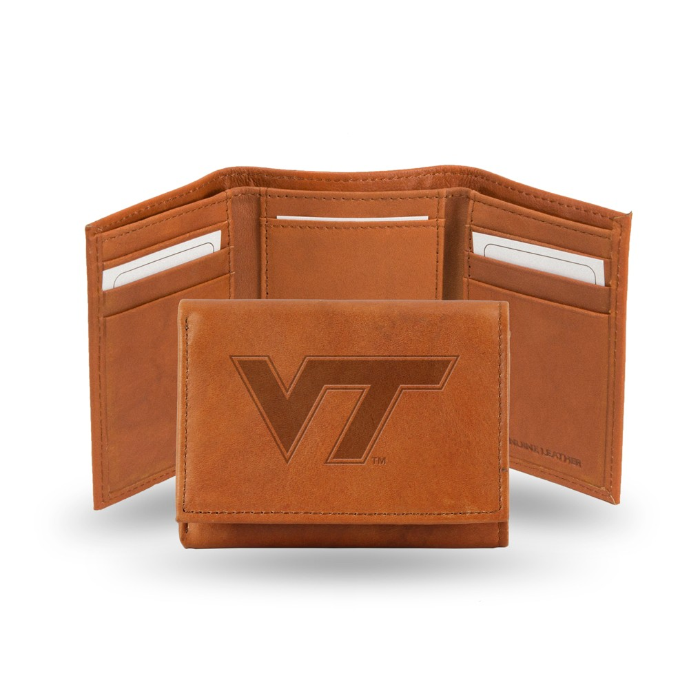 Virginia Tech Hokies Rico Industries Embossed Leather Trifold Wallet