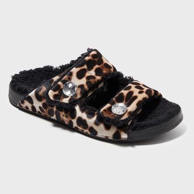Women's Dearfoams Slide Slippers - Brown S