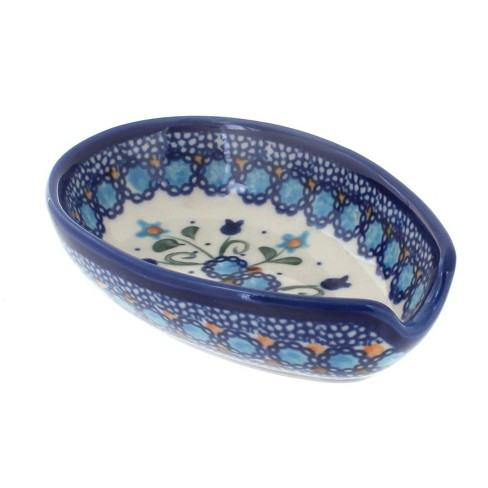 Blue Rose Polish Pottery Savannah Small Spoon Rest - image 1 of 1