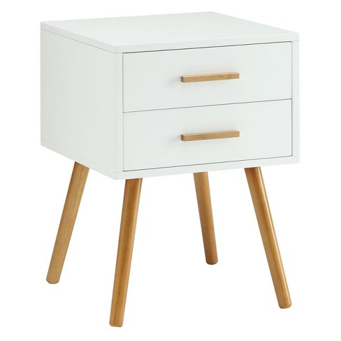Oslo Two Drawer End Table White - Convenience Concepts - image 1 of 1
