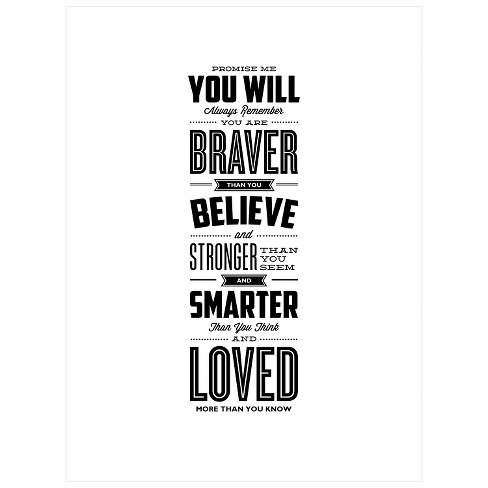 Promise Me You Will Always Remember You Are Braver by Brett Wilson Unframed Wall Art Print - image 1 of 2