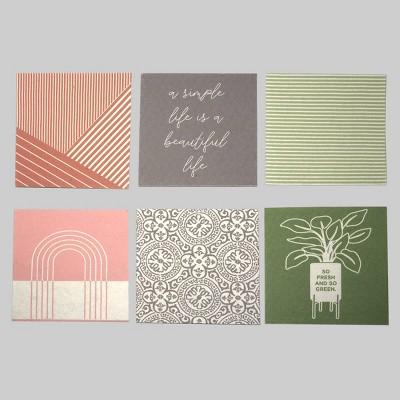 6ct Dish Cloths Green & Geo Print - Bullseye's Playground™