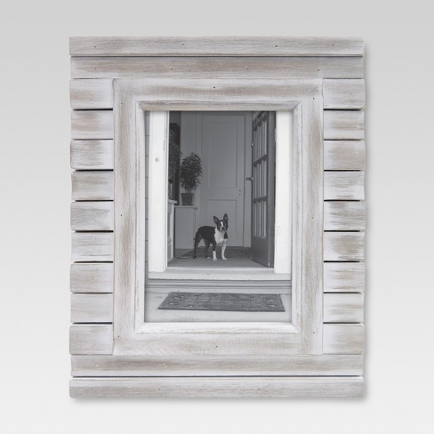 5 x7 frame white wash threshold target