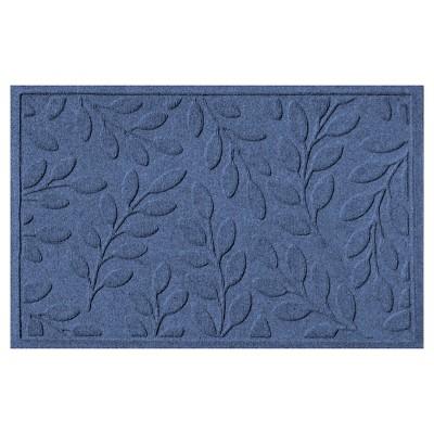 Navy Botanical Doormat - (2'X3')- Bungalow Flooring