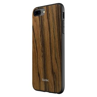 Evutec Apple iPhone 8 Plus/7 Plus/6s Plus/6 Plus Case (with Car Vent Mount) - Burmese Rosewood