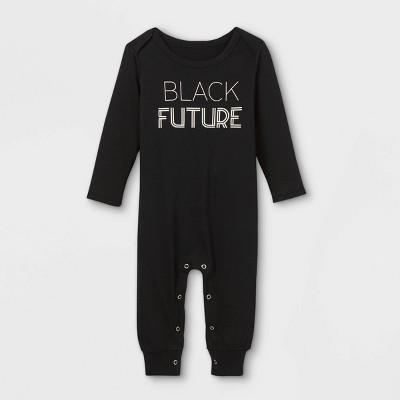 Black History Month Infant 'Black Future' Romper - Black 12M