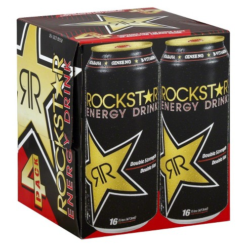 Rockstar Double Strength Energy Drink - 4pk/16 fl oz Cans - image 1 of 1