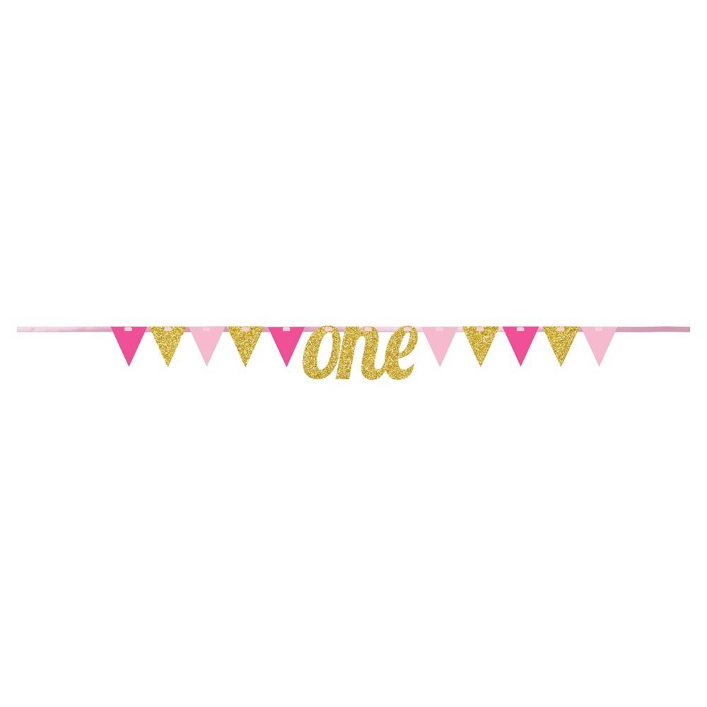 1st Birthday Girl Pennant Banner
