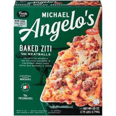 Michael Angelo's Frozen Baked Ziti with Meatballs - 28oz