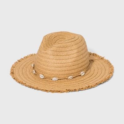 Girls' Fringe Edge Straw Hat - art class™ Khaki