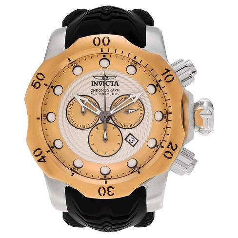 Men's Invicta 20441 Venom Quartz Chronograph Gold Dial Strap Watch - Black - image 1 of 3