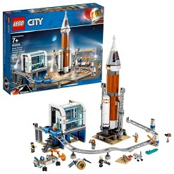 LEGO City Space Deep Space Rocket and Launch Control 60228 Model Rocket Building Kit with Minifigures