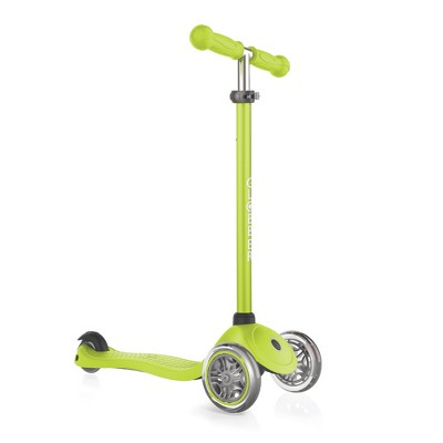 Globber Primo 3-Wheel Kids Kick Scooter with Adjustable Height and Comfortable Grips for Boys and Girls, Green