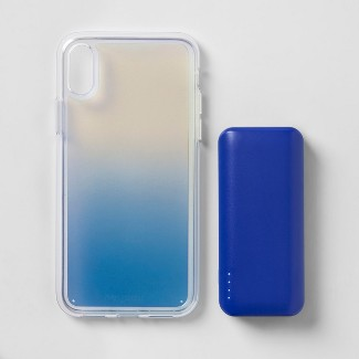 heyday™ Apple iPhone X/XS Case with Power Bank - Cool Iridescent