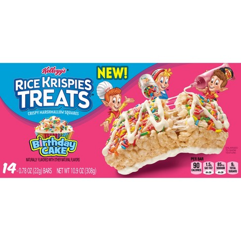 Rice Krispies Marshmallow Birthday Cake Snack Bars 14ct / .77oz - image 1 of 4