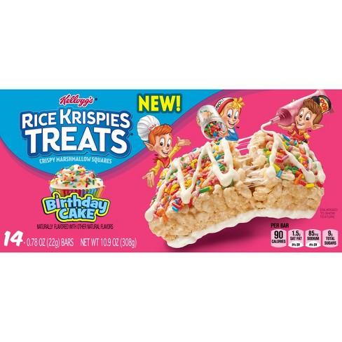 Rice Krispies Marshmallow Birthday Cake Snack Bars 14ct 77oz Target