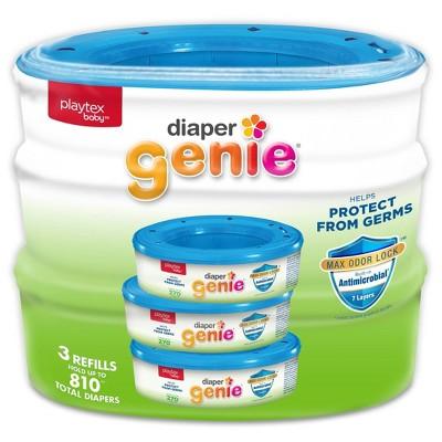 Playtex Baby Diaper Genie Diaper Disposal Pail System Refill - 3pk