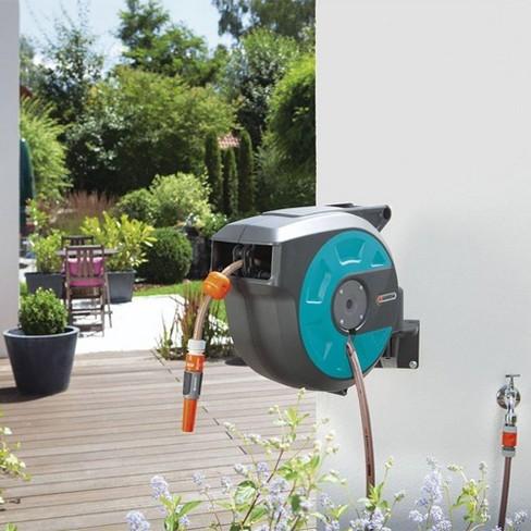 Gardena Comfort 50 Foot Wall Mounted Retractable Swivel Garden Hose Reel Box Target