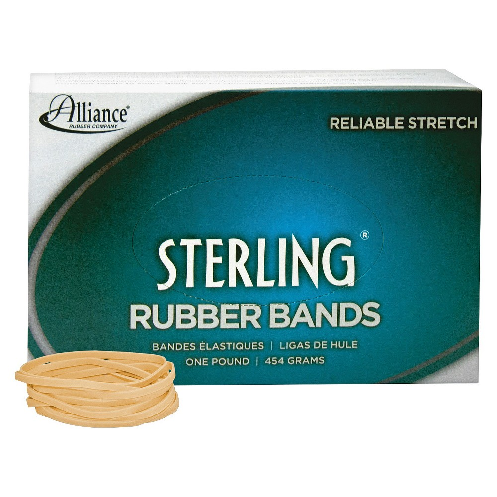 Image of Alliance Sterling Ergonomically Correct Rubber Bands, #32, 3 x 1/8, 950 Bands/1lb Box