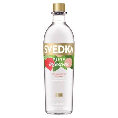 SVEDKA Pure Infusions Strawberry Guava Flavored Vodka - 750ml Bottle