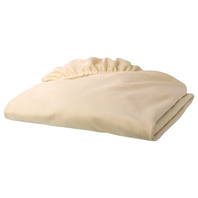TL Care Jersey Knit Fitted Crib Sheet - Butter Cream