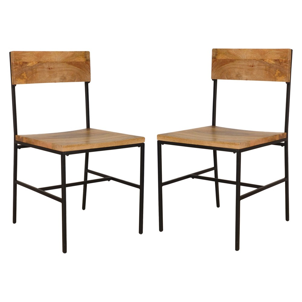 Elmsley Dining Chair (Set of 2) - Natural/Black - Carolina Chair and Table