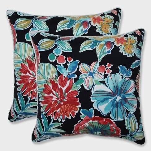 "18.5"" 2pk Colsen Noir Throw Pillows Black - Pillow Perfect - image 1 of 1"