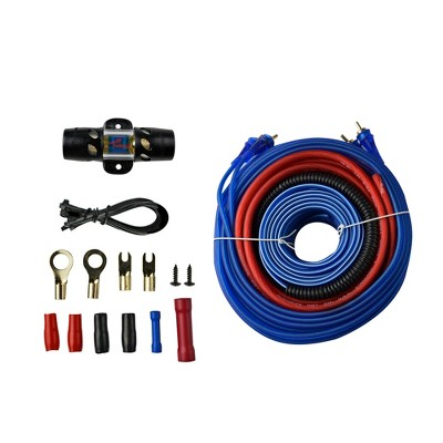 Audiopipe PK-1500SX 8 G.A. Car Audio Amp Wiring Kit with Cables for 1500 Watts Power to Vehicle Amplifier, Subwoofer, Stereo, and Speaker Systems