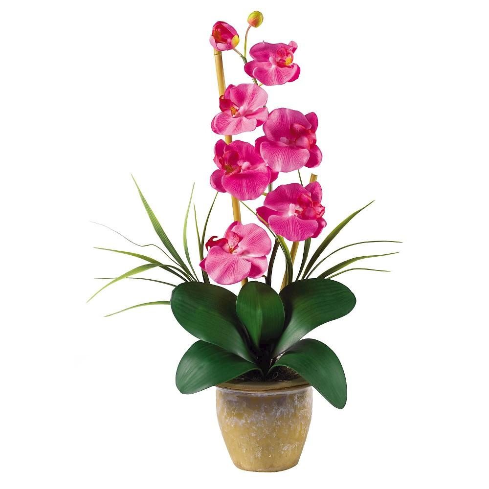 Nearly Natural Phalaenopsis Silk Orchid Flower Arrangemen...