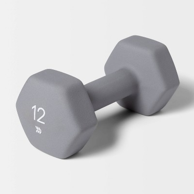 Dumbbell 12lbs Gray - All in Motion™