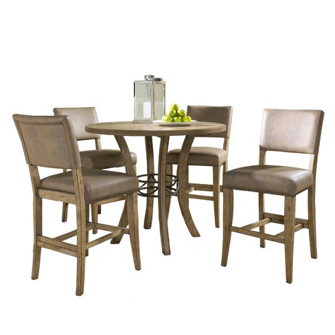 Incredible Charleston Parsons Stool And Counter Height Dining Table Wood Brown 5 Piece Set Hillsdale Furniture Home Interior And Landscaping Ologienasavecom