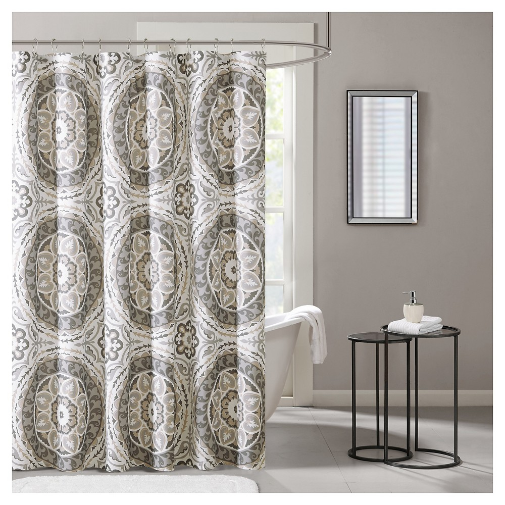 Shower Curtain - Taupe, Taupe Brown