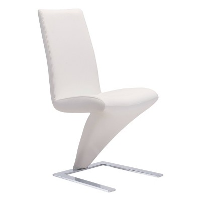 Set of 2 Modern Stainless Steel Cantilever Design Dining Chair - ZM Home