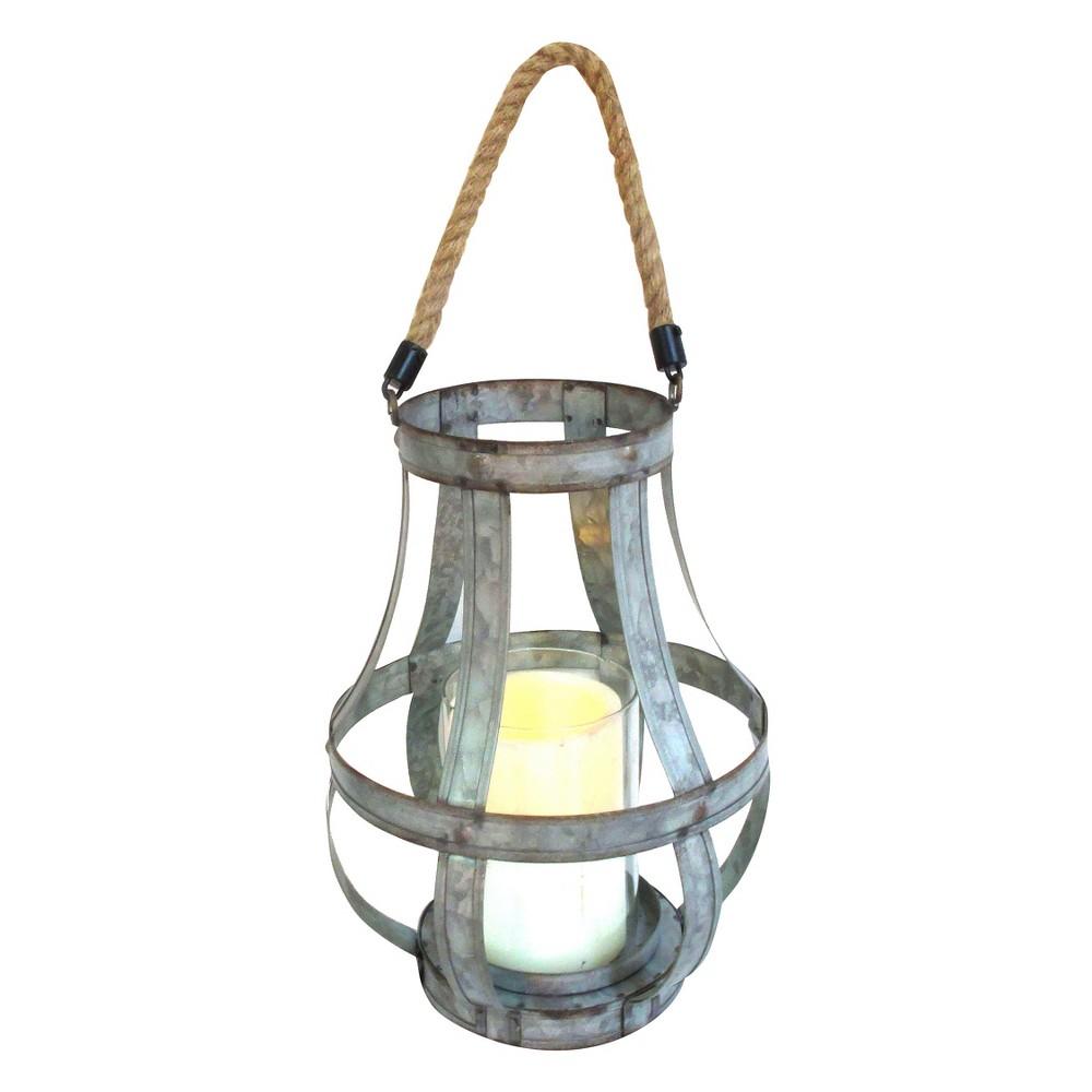 Metal Lantern 11.5 - A&b Home, Silver Gray