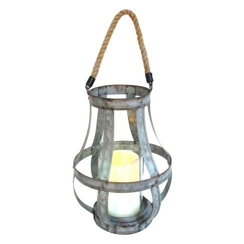 "Metal Lantern 11.5"" - A&B Home - image 1 of 3"