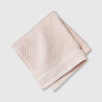 Performance Texture Washcloth Blush Pink - Threshold™