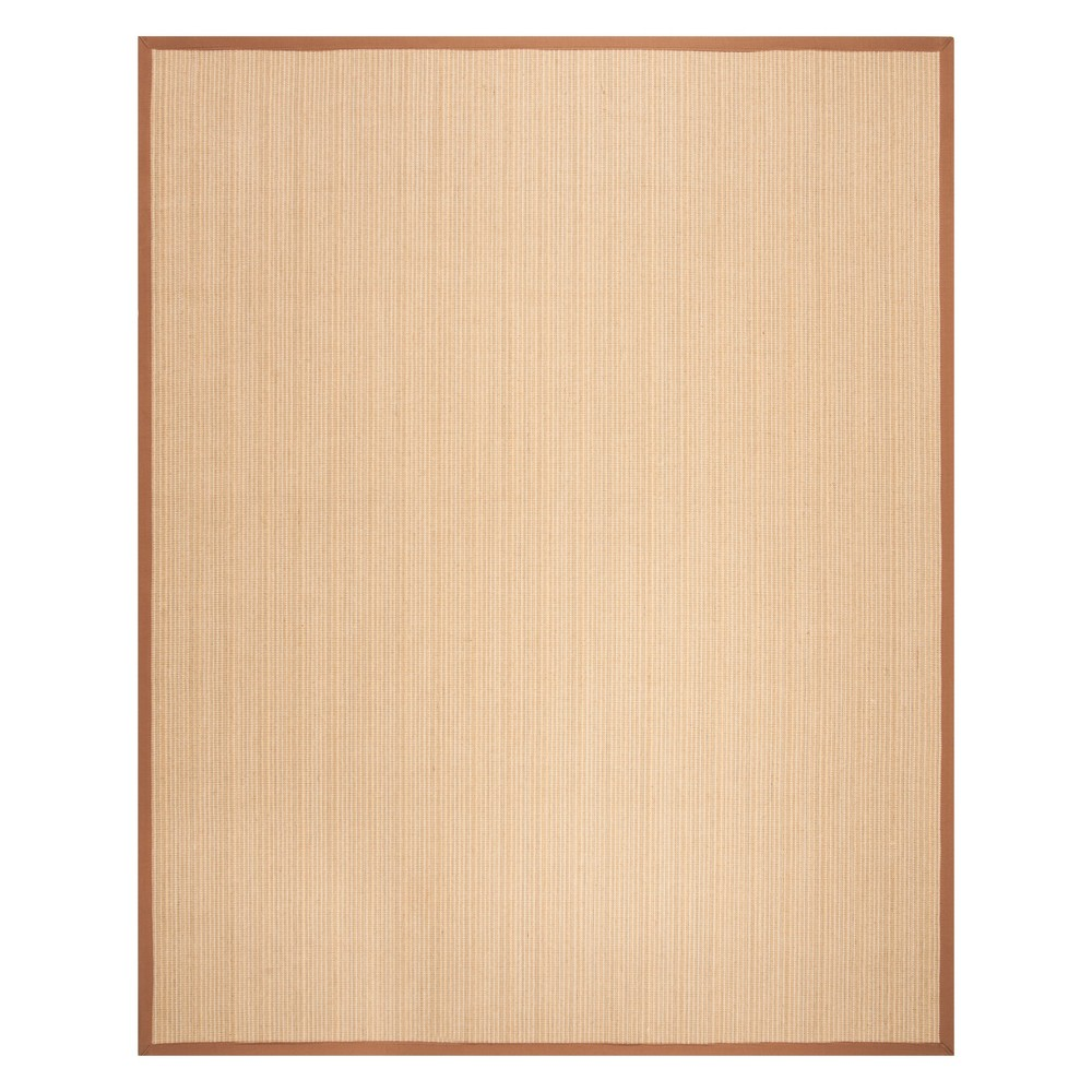 8'X10' Stripe Loomed Area Rug Light Brown - Safavieh, Multi-Colored/Light Brown