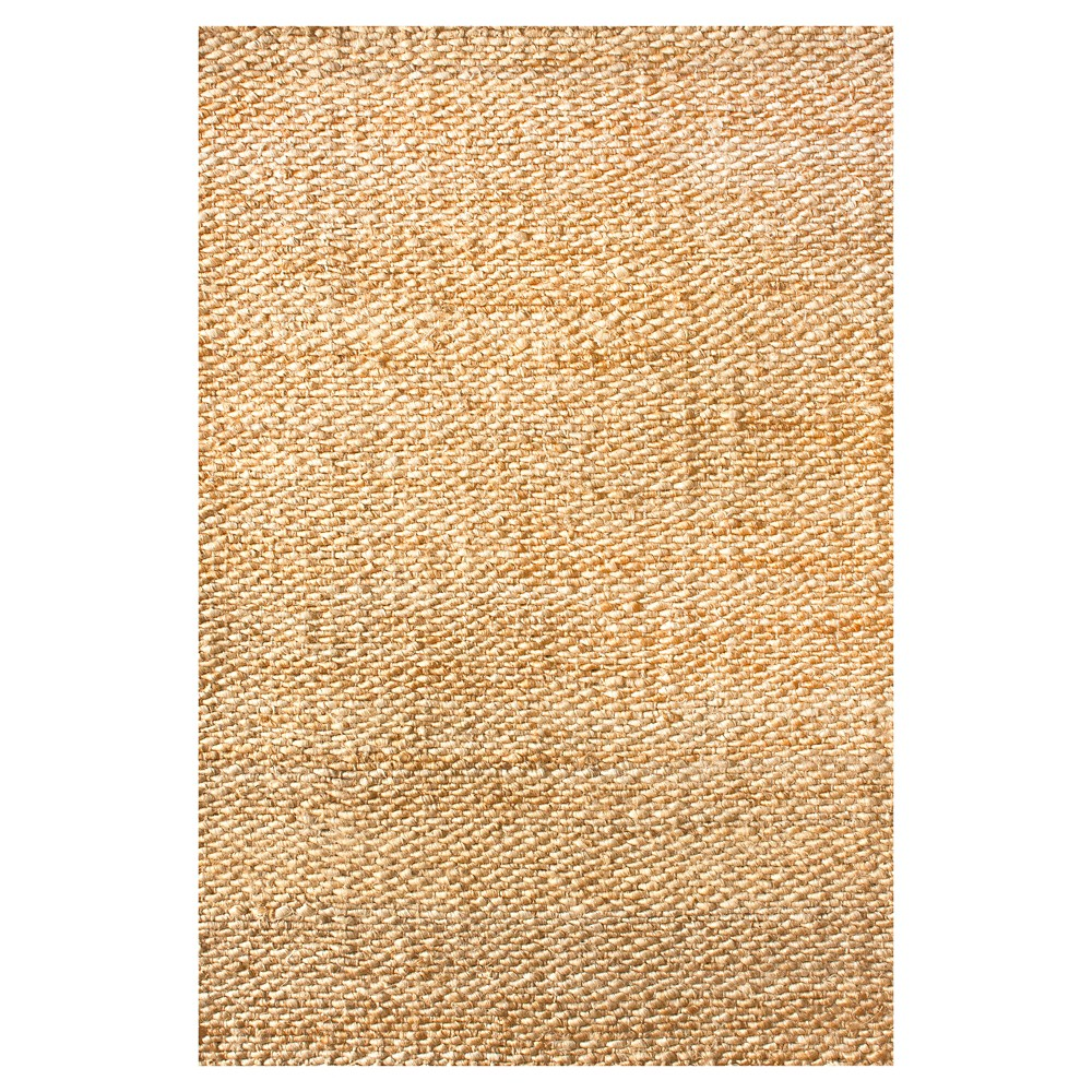 nuLOOM Hand Woven Hailey Jute Area Rug - Off-White (Beige) (6' x 9')