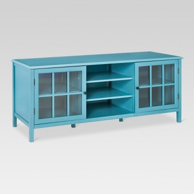 Windham Large TV Stand Teal - Threshold™