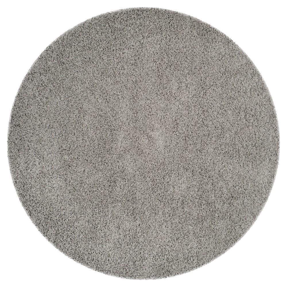Light Gray Solid Loomed Round Area Rug - (6'7 Round) - Safavieh