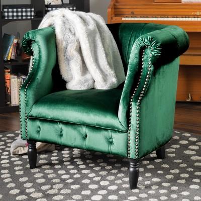 Akira New Velvet Club Chair - Christopher Knight Home : Target