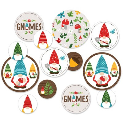 Big Dot of Happiness Garden Gnomes - Forest Gnome Party Giant Circle Confetti - Party Decorations - Large Confetti 27 Count