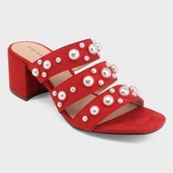 82d75ba343c1 Women s Clara Pearl Three Band Slide Sandals - Who What Wear™ Tan ...
