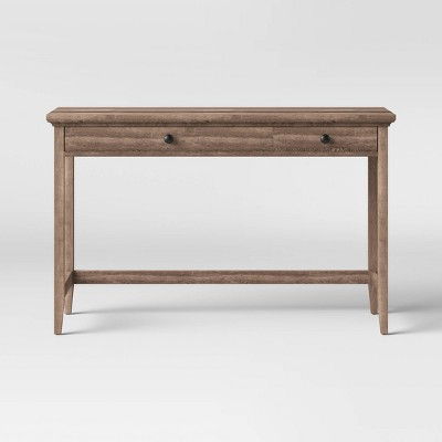 Carson Wood Writing Desk with Drawers Rustic - Threshold™